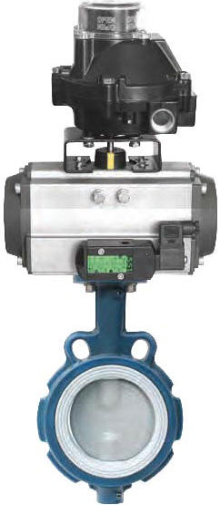 Air Con II C pneumatic actuator with butterfly valve