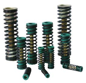 Pneumatic actuator spring cartridges