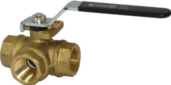 Brass 3-way ball valve