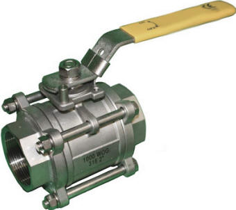 Inexpensive 3-piece 316SS industrial UL certified  ball valve
