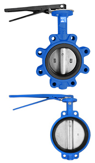 Iron body butterfly valves