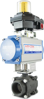 Limit switch attached to actuated ball valve