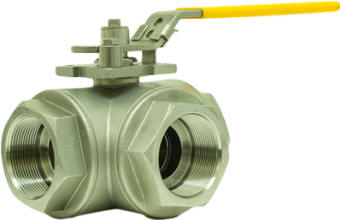 316SS 3-way ball valve