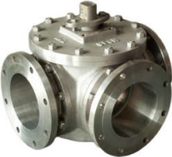 Actuator ready trunnion 3-way ball valve
