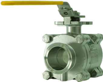 Sanitary ball valves satisfying FDA and UPS Class IV standards