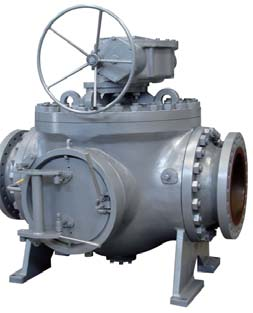 Piggable trunnion ball valve for the oil and gas industry