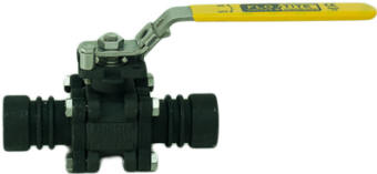 Direct Weld Ball Valve with black phosphate coating