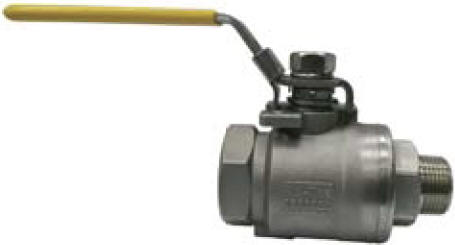 Ball valve with male by female threaded NPT connections