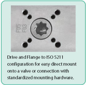 ISO 5211 mounting pattern